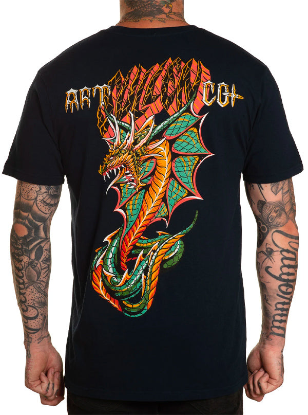 Men's Cobre Dragon Tee by Sullen