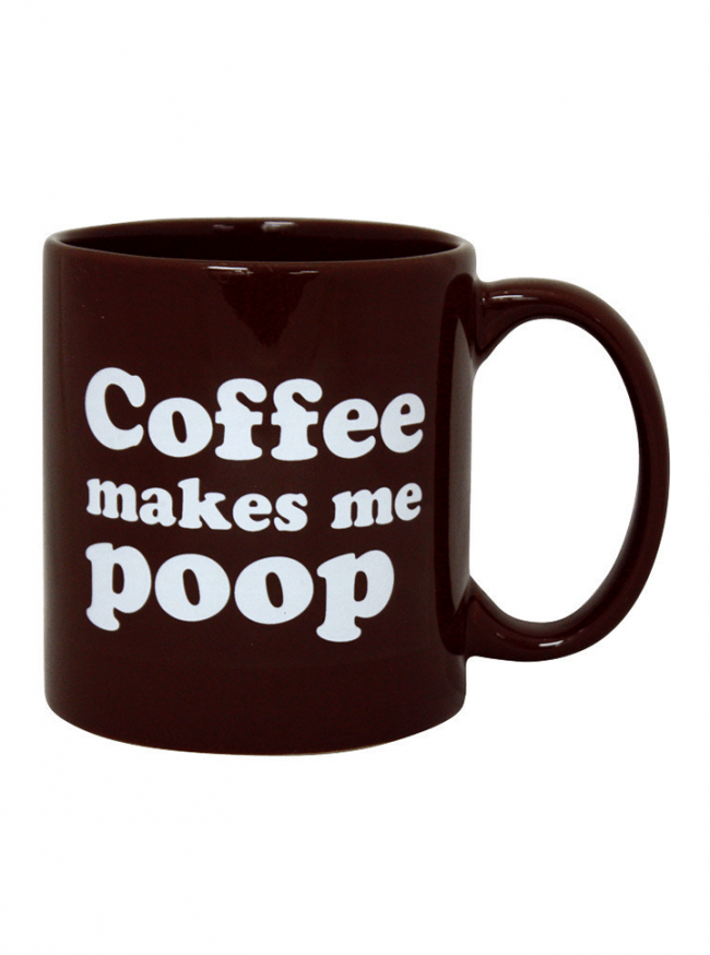 """Coffee Makes Me Poop"" Giant Mug - www.inkedshop.com"