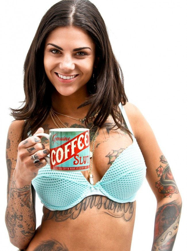 """Coffee Slut"" Coffee Mug by Trixie & Milo - www.inkedshop.com"