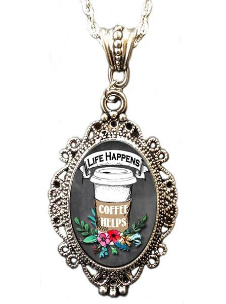 Coffee Cameo Necklace by Alkemie & Artistry