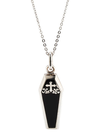 Black Coffin Necklace by Silver Phantom Jewelry