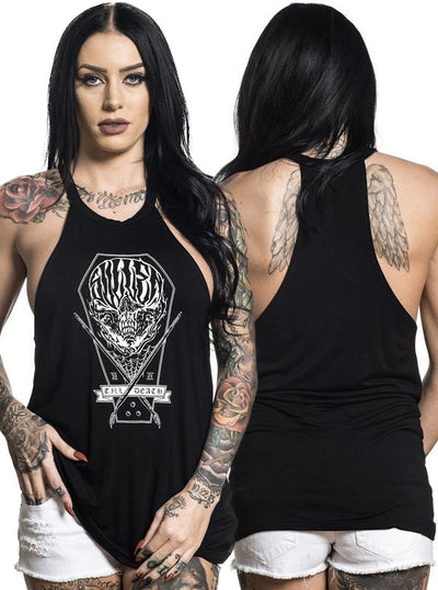 "Women's ""Coffin Skull"" Tank by Sullen (Black)"
