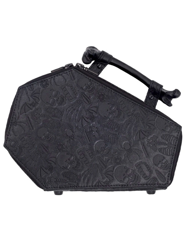 Embossed Skull Coffin Bag by Kreepsville 666