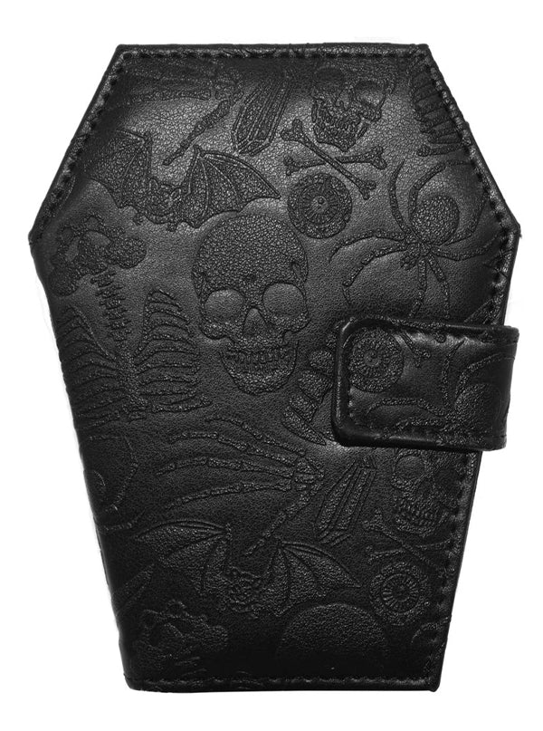 Embossed Skull Coffin Wallet by Kreepsville 666