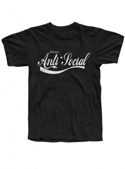 "Men's ""Anti Social"" Tee by The T-Shirt Whore (Black) - InkedShop - 1"