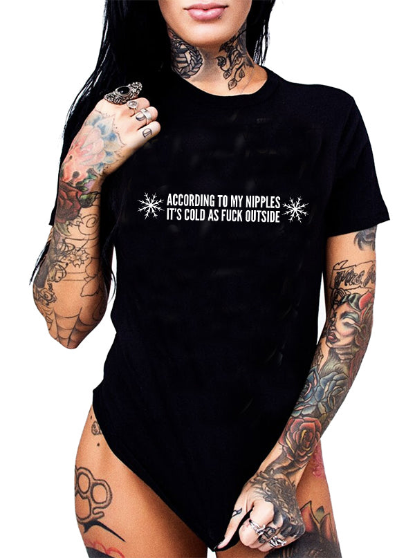 Unisex Cold AF Tee by Dirty Shirty