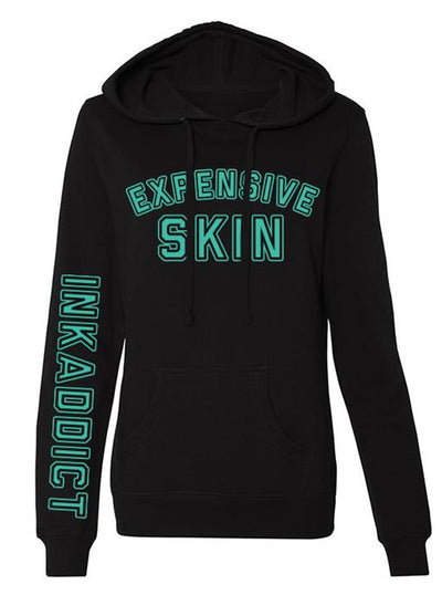 Women's Expensive Skin College Hoodie by InkAddict