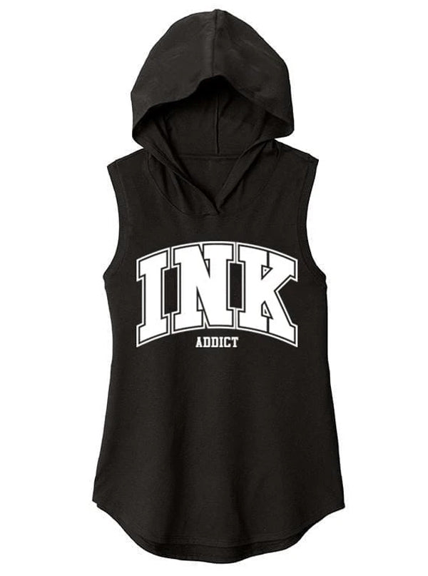 Women's Ink Collegiate Sleeveless Hoodie by InkAddict
