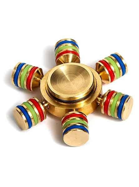 Metal Rainbow Band Spinner Gold