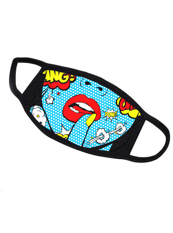 Comic Face Mask by Inked