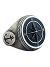 """Compass Skull"" Ring by Lor G Jewellery - www.inkedshop.com"