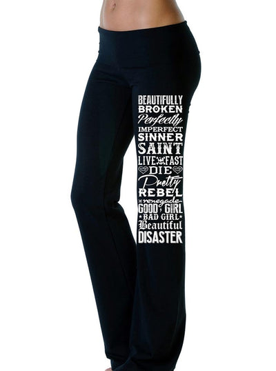 Women's Conflict Yoga Pants by Beautiful Disaster