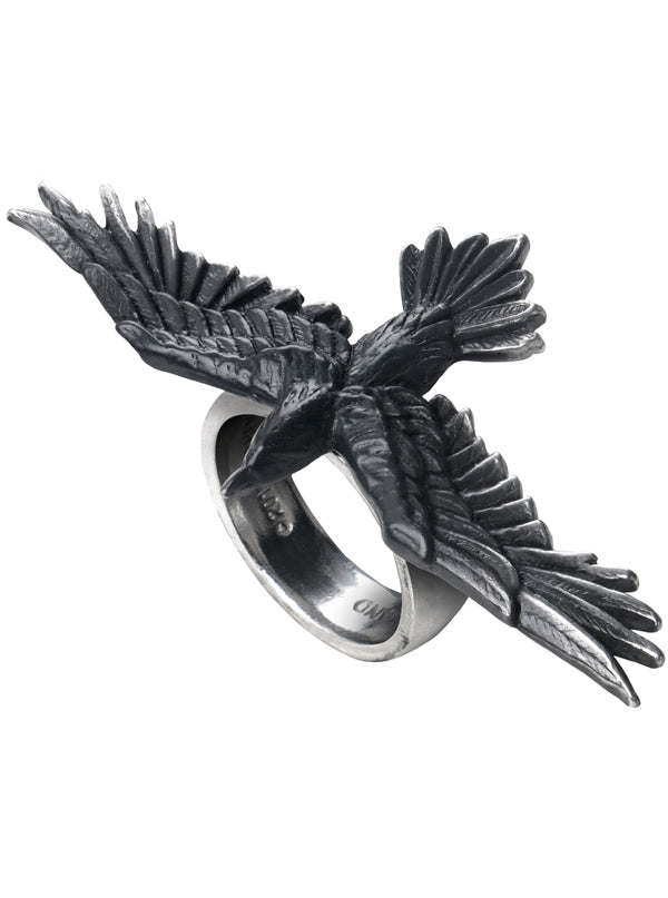 """Black Consort"" Ring by Alchemy of England (Black)"