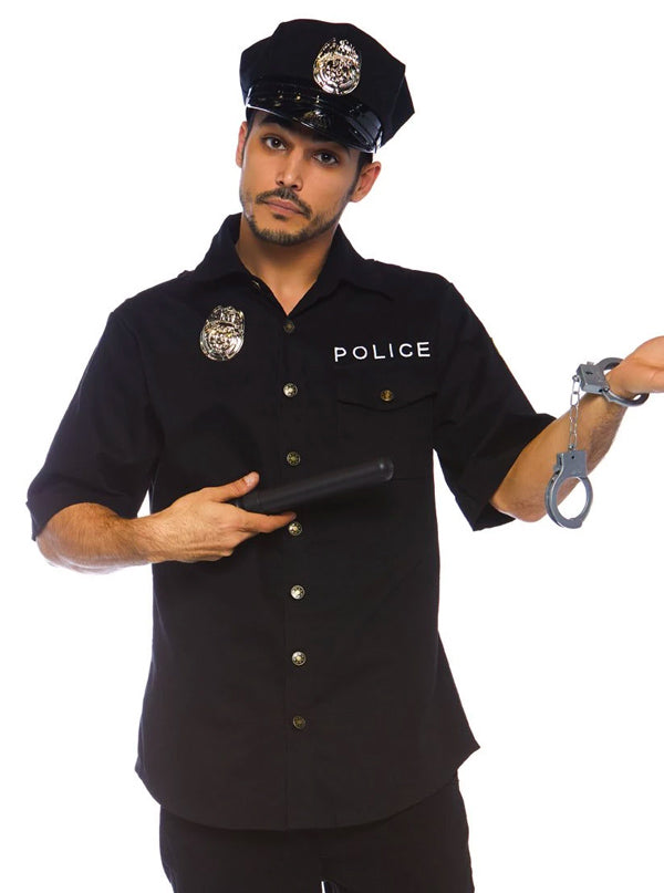 "Men's ""Cuff 'Em Cop Police"" Costume by Leg Avenue (Black)"