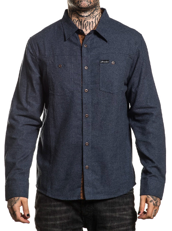 Men's Copic Flannel by Sullen (Denim)