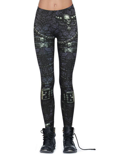 Women's Waisted Corset Allover Leggings by Spiral USA