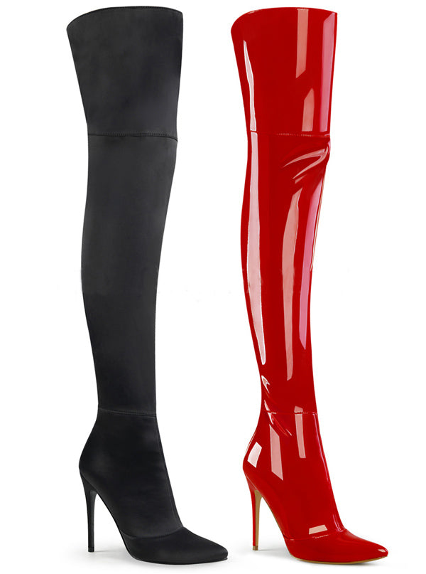 Women's Courtly 3012 Thigh High Boots by Pleaser (More Options)
