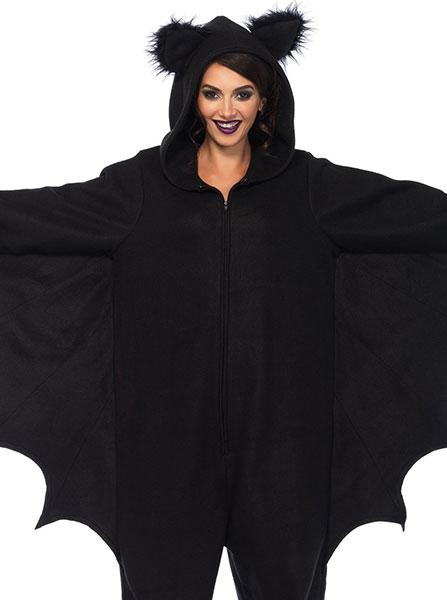 "Women's ""Bat Kigarumi Funsie"" Costume by Leg Avenue (Black)"