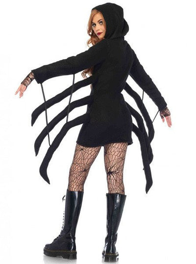 "Women's ""Cozy Black Widow"" Costume by Leg Avenue (Black) - www.inkedshop.com"