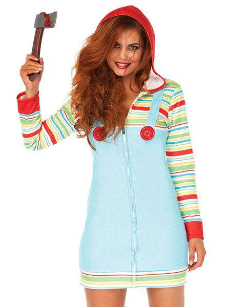 Women's Cozy Killer Doll Costume by Leg Avenue