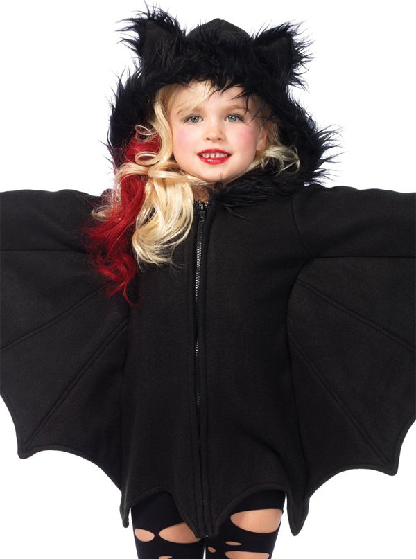 Kid's Cozy Bat Costume by Leg Avenue (Black)
