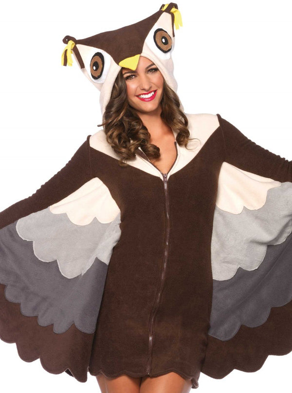 Women's Cozy Owl Costume by Leg Avenue (Brown)