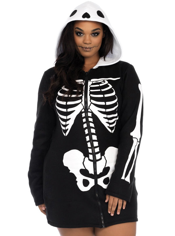 "Women's ""Cozy Skeleton"" Costume by Leg Avenue (Plus Size)"