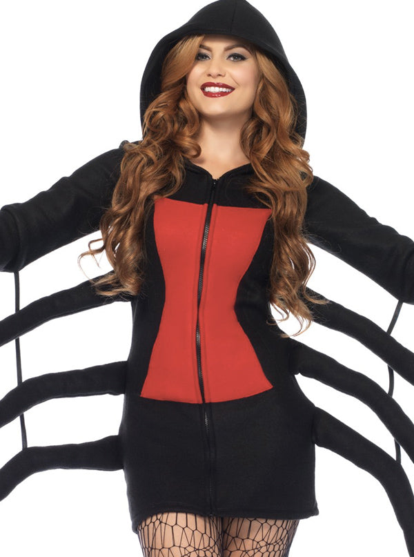 Women's Cozy Black Widow Costume by Leg Avenue