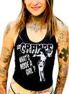 Women's What's Inside A Girl Crop Tank by Gypsy Treasures