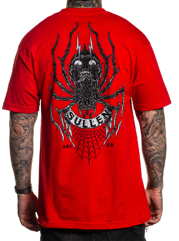 "Men's ""Crawler"" Tee by Sullen (Red)"