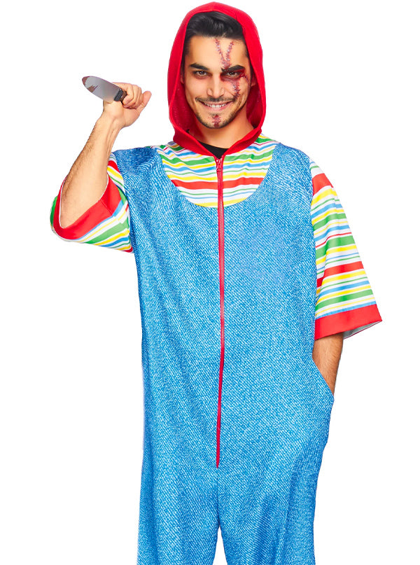 Men's Creepy Killer Costume by Leg Avenue (Blue)
