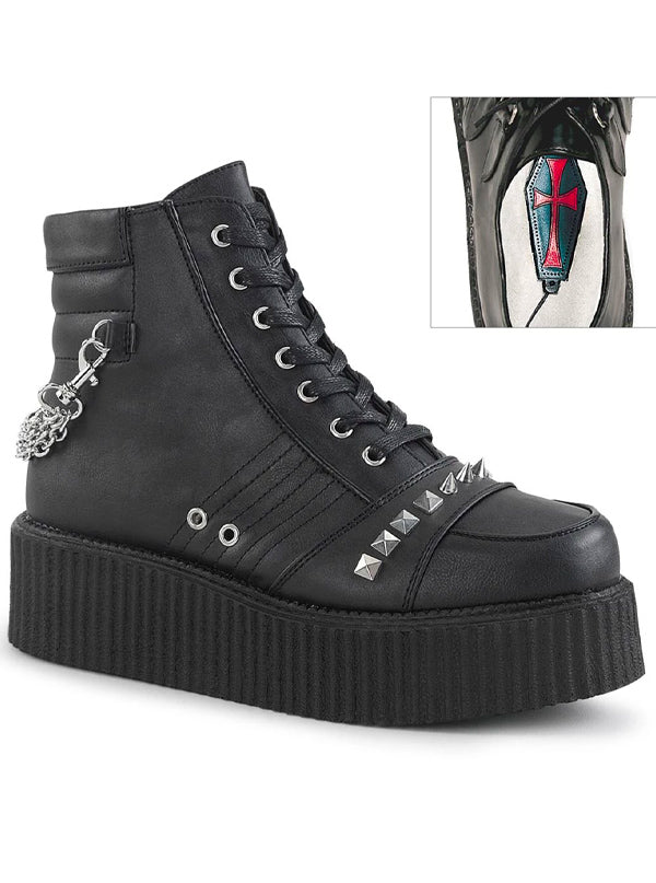 "Unisex ""Creeper 565"" Platform Boot by Demonia (Black)"