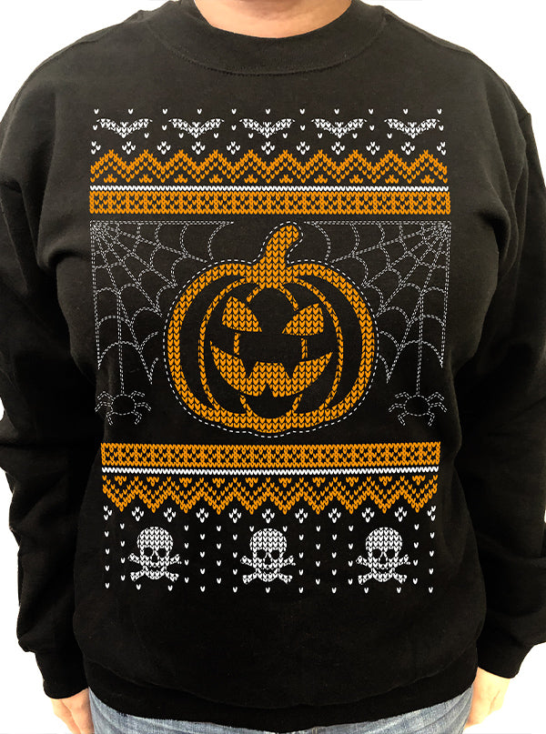 Unisex Creepy Ugly Christmas Crewneck Sweatshirt by Cartel Ink