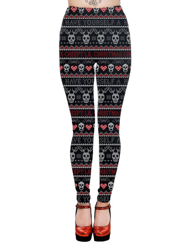 Women's Creepy Lil Christmas High Waist Leggings by Too Fast