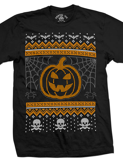 Men's Creepy Ugly Christmas Sweater Tee by Cartel Ink