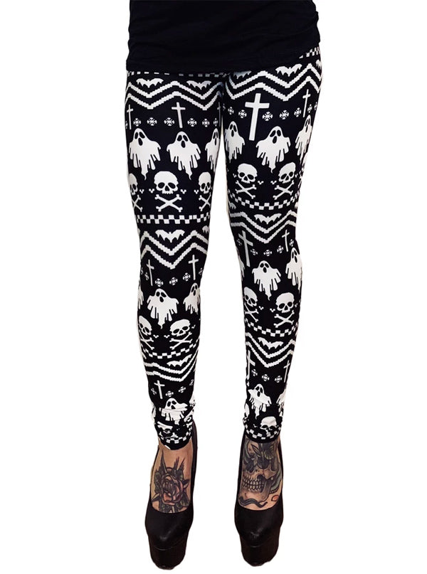 Women's I'm With Creepy Christmas Leggings by Too Fast