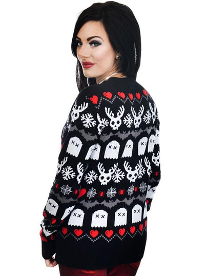 Women's Creepy Lil Christmas Ugly Christmas Sweater by Too Fast