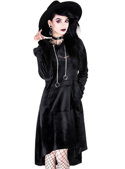 Women's Long Moon Hoodie Dress by Restyle