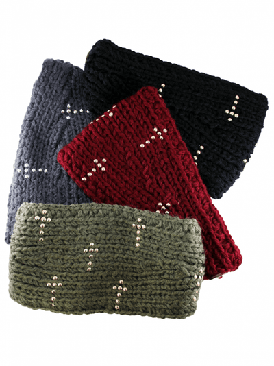 "Women's ""Beaded Cross Detail"" Knit Headband - InkedShop - 2"
