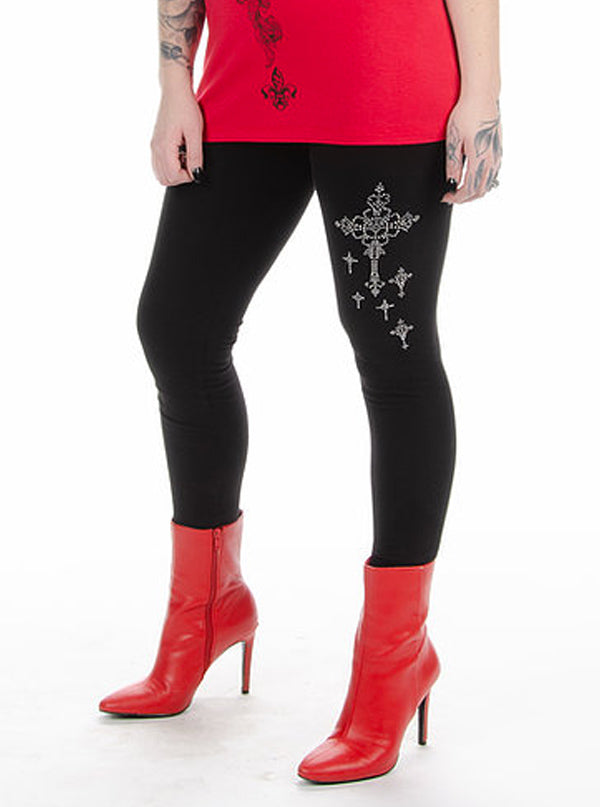 Women's Cross My Heart Leggings by Liberty Wear