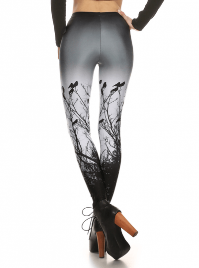 "Women's ""Creepy Crows"" Leggings by Poprageous (Black) - www.inkedshop.com"