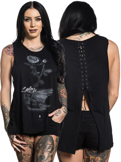 "Women's ""Fallen Crow"" Tank by Sullen (Black)"