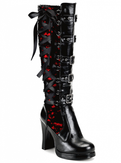 "Women's ""Crypto"" Vegan Boots by Demonia (Black) - www.inkedshop.com"
