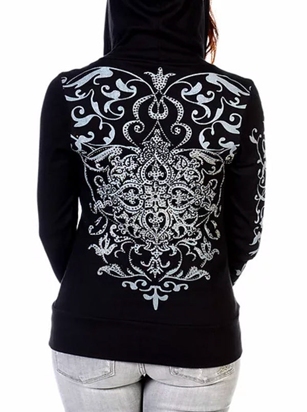 Women's Vintage Crystal Hoodie by Liberty Wear