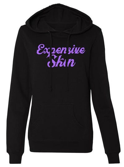 Women's Expensive Skin Cursive Hoodie by InkAddict