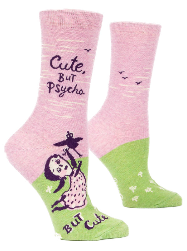 Women's Cute But Psycho Crew Socks