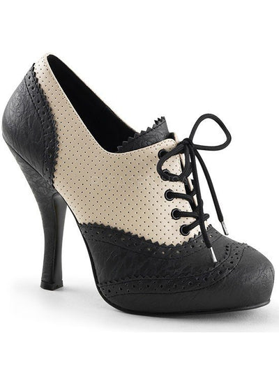 "Women's ""Cutie Pie"" Platform by Pinup Couture (Black/Cream) - www.inkedshop.com"