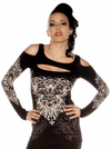 "Women's ""Cut Out"" Top by Folter Clothing (Black) - www.inkedshop.com"