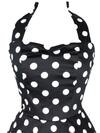 "Women's ""Classic Polka Dot"" Dress by Hemet (Black/White) - www.inkedshop.com"