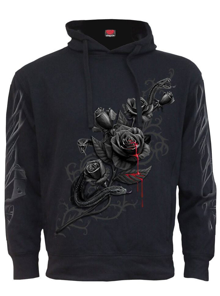"Women's ""Fatal Attraction"" Side Pocket Stitched Hoodie by Spiral USA (Black) - www.inkedshop.com"